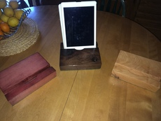 Tablet holders in color to suit. All Maple and Poplar
