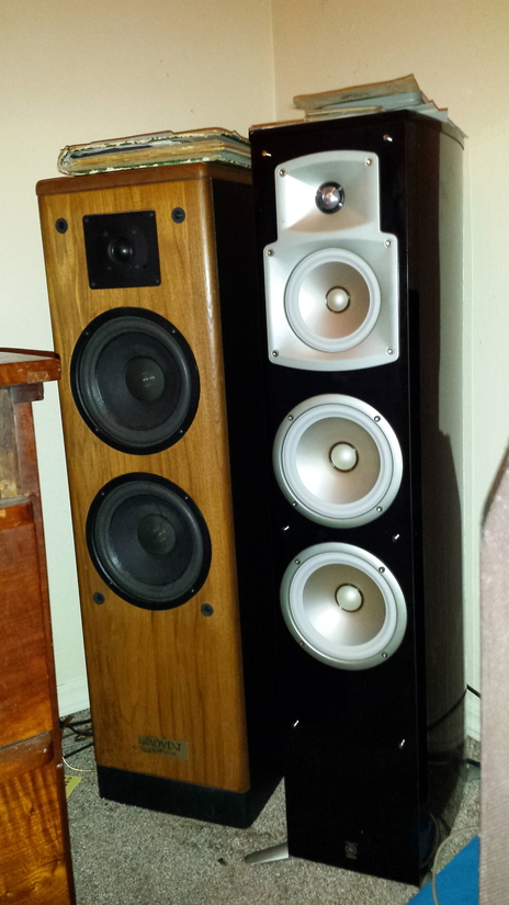 Vintage Advent Heritage (New Surrounds all 4 woofers) &  Latest Tech Yamaha NS-555, they py harmous