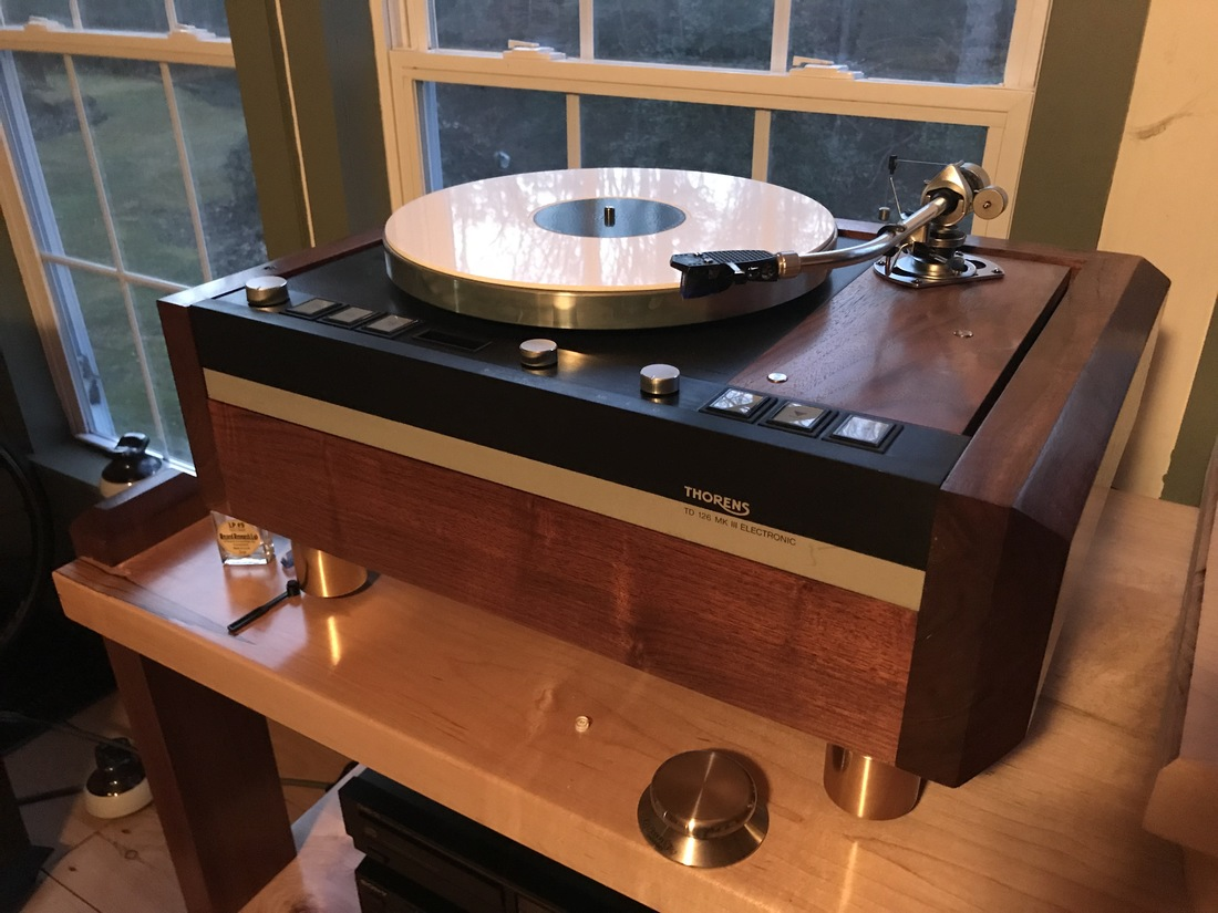 Thorens TD 126mkIII with custom plinth that i built