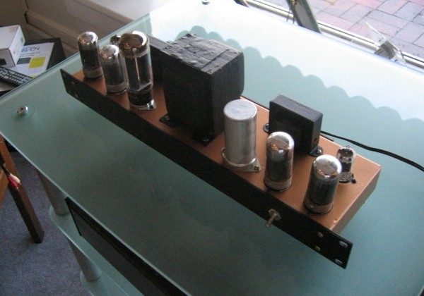 Hand-Built 7C5 PP Power Amp (based loosely on Magnavox AMP175 circuit, Lafayette OPTs)