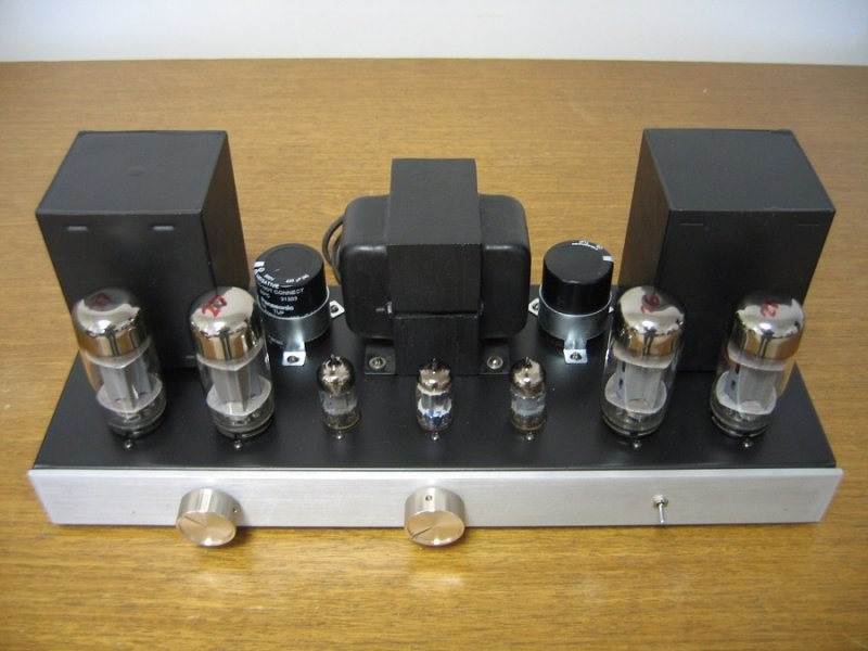 Built-From-Scratch 6L6 Push Pull Integrated Amplifier (20w/ch)
