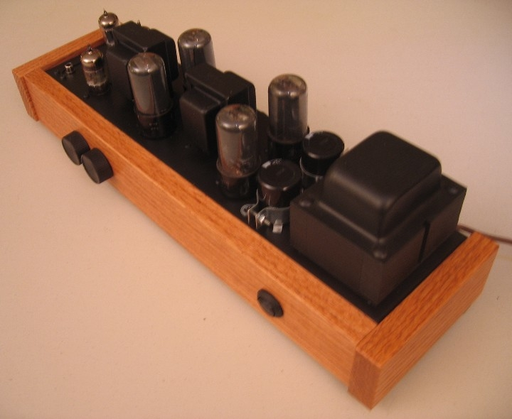 """The Bottleship""- Hand-built 6V6 Integrated Amplifier"