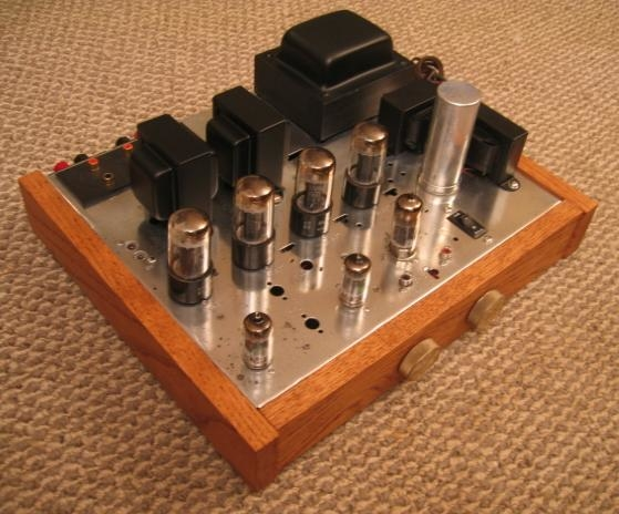 """The Magnamutt""- Magnavox AMP175 hotrod/integrated amp conversion (OPT upgrade, custom preamp added)"