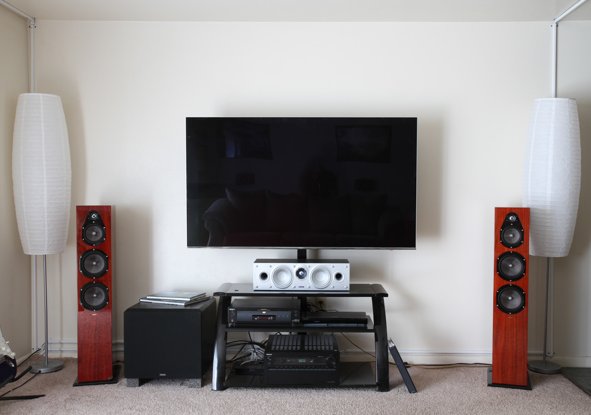 Energy, Samsung, Sony, and Velodyne has my living room sounding great!