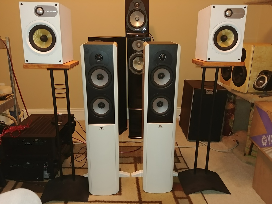 White Speakers!  Boston Acoustics A250 & B&W  685