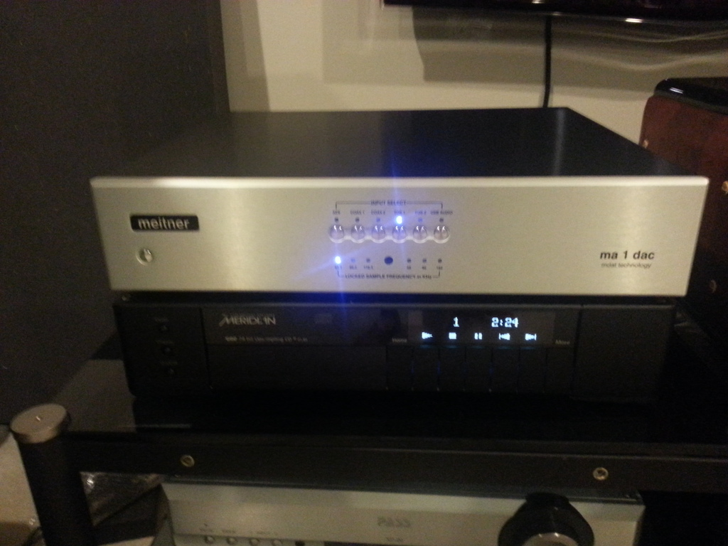 Meitner Ma1 dac and Meridian G08 player