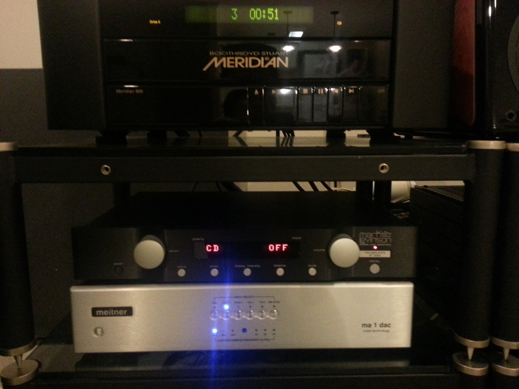 Mark levinson 326s preamp (the quiet  solid state preamp in my system)