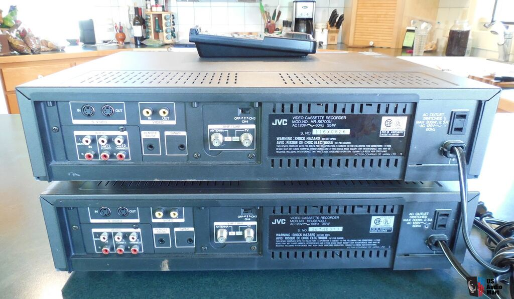2 Jvc 4 Head Hr S6700u Editing S Vhs Vcr Recorder Players