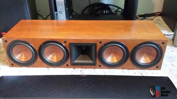klipsch rc 64 ii center speaker 6 months old a stock cherry w manual box photo 1047307. Black Bedroom Furniture Sets. Home Design Ideas
