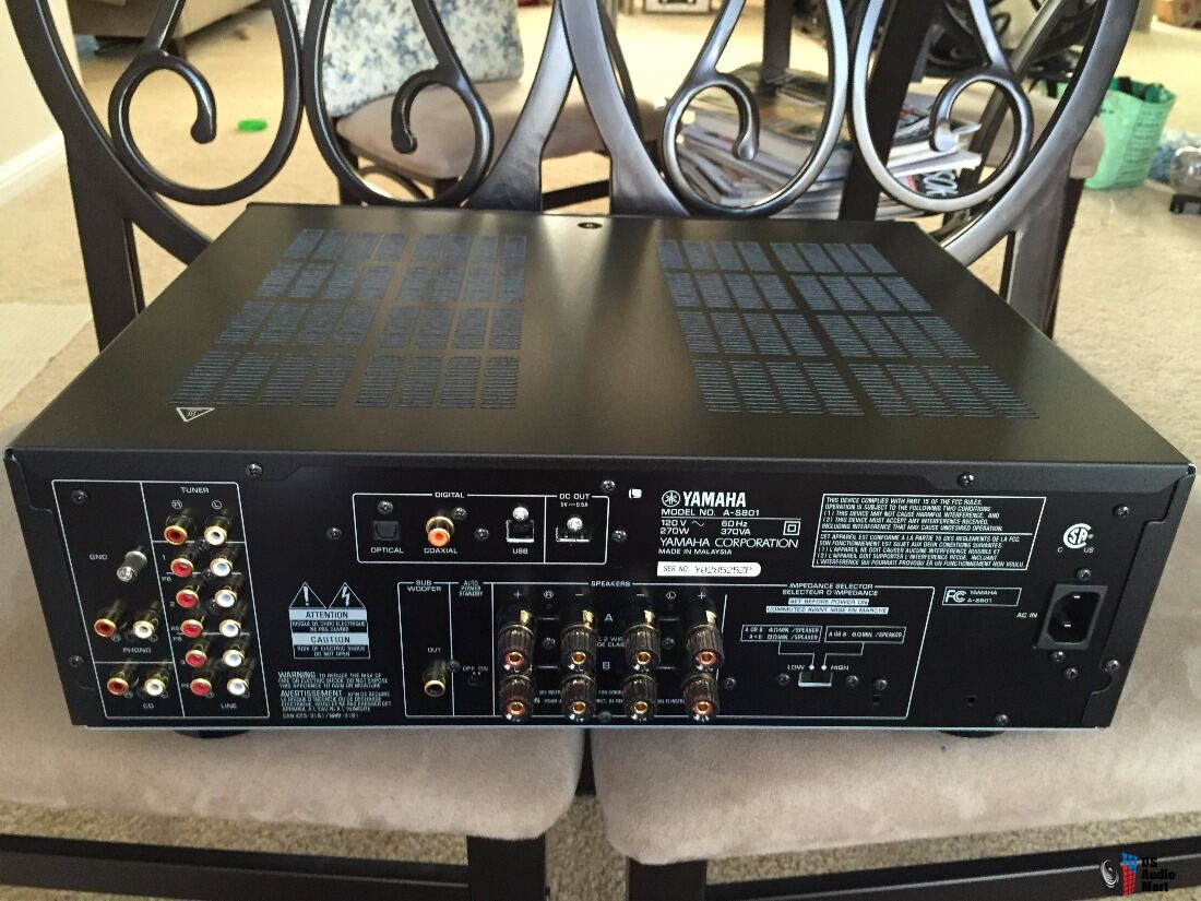yamaha a s801 integrated amplifier photo 1114506 canuck. Black Bedroom Furniture Sets. Home Design Ideas
