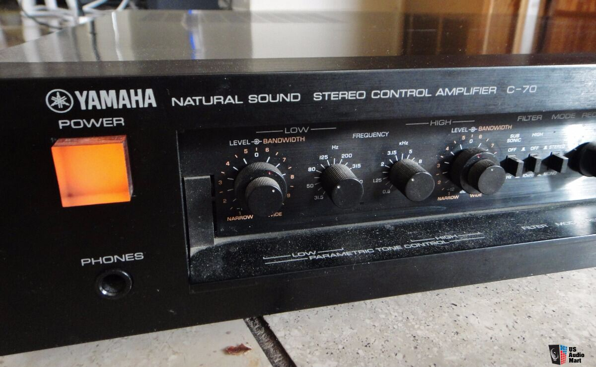 Yamaha c 70 natural sound stereo control pre amplifier for Yamaha audio customer service