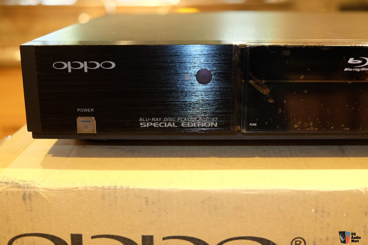 oppo digital bdp 83se special edition   just returned from