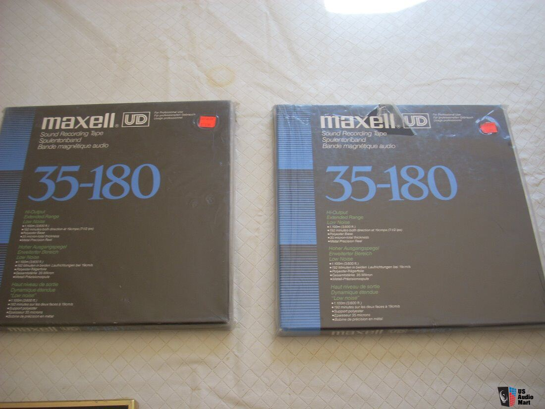 Maxell 10 And 7 Inch Some Sealed Some Revox Teac Used Reel
