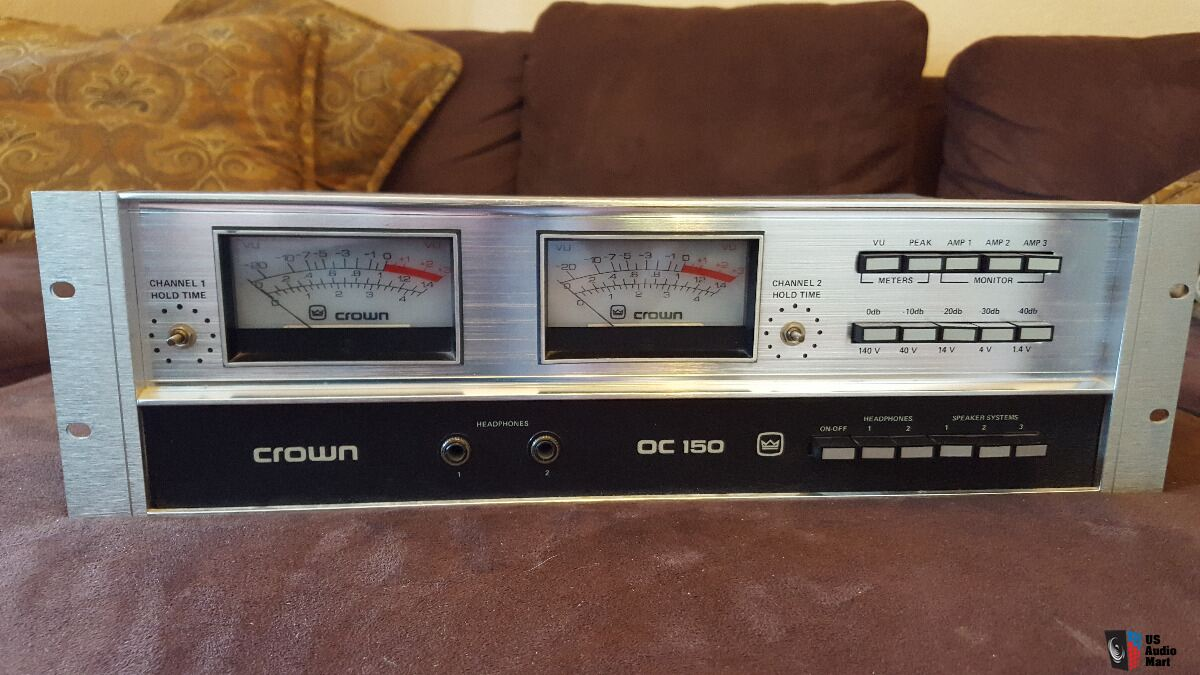 Crown Oc 150 Output Control Center Vu Meter Headphone Amp Photo 3