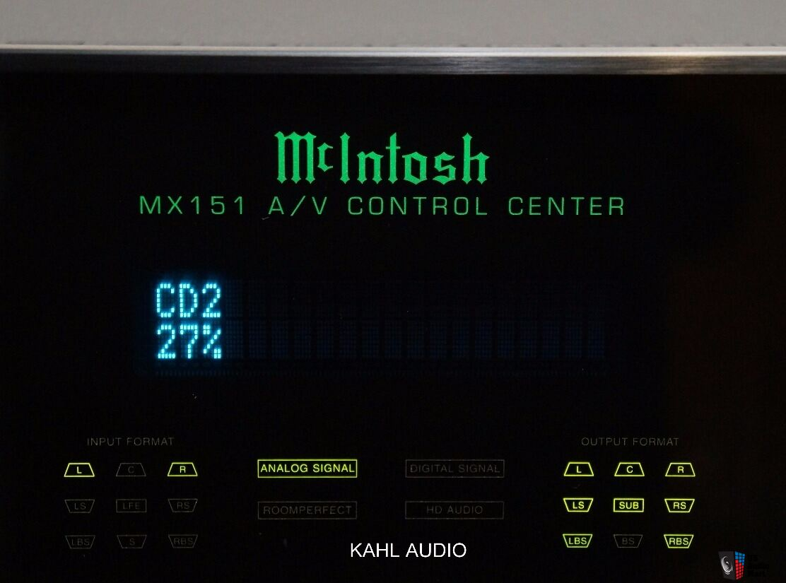 McIntosh MX151 AV Control Center. Former flagship model. $12,500 MSRP