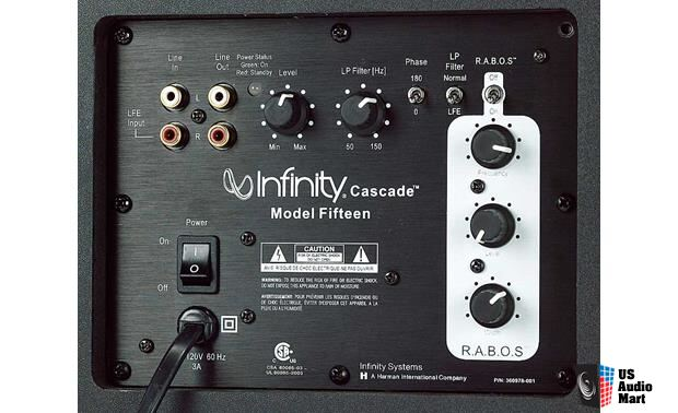 Infinity Cascade 5.1 Speaker System with RABOS In-room Bass Correction