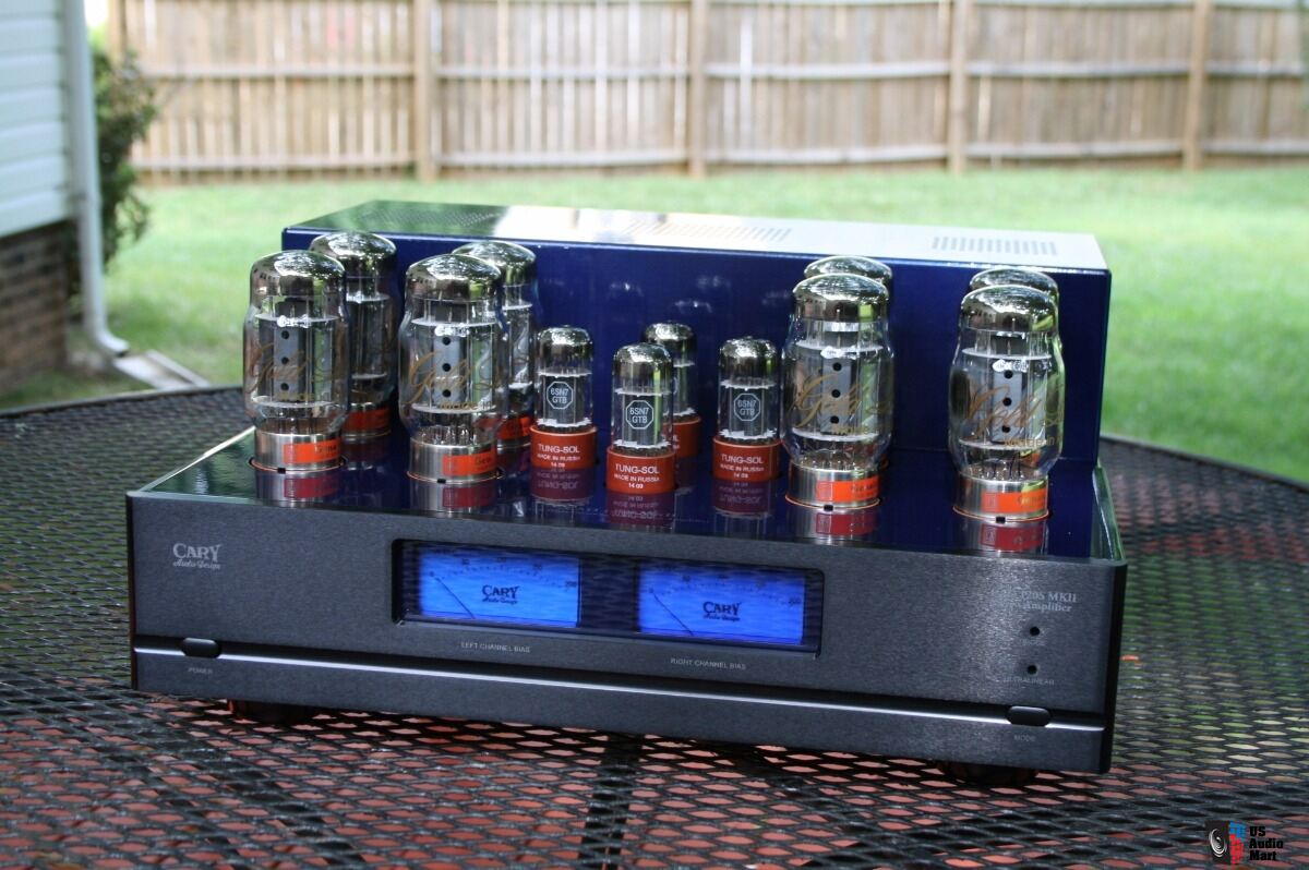 Cary CAD 120 S MK II, Cary CAD120S MK II tube amplifier. Cobalt Blue