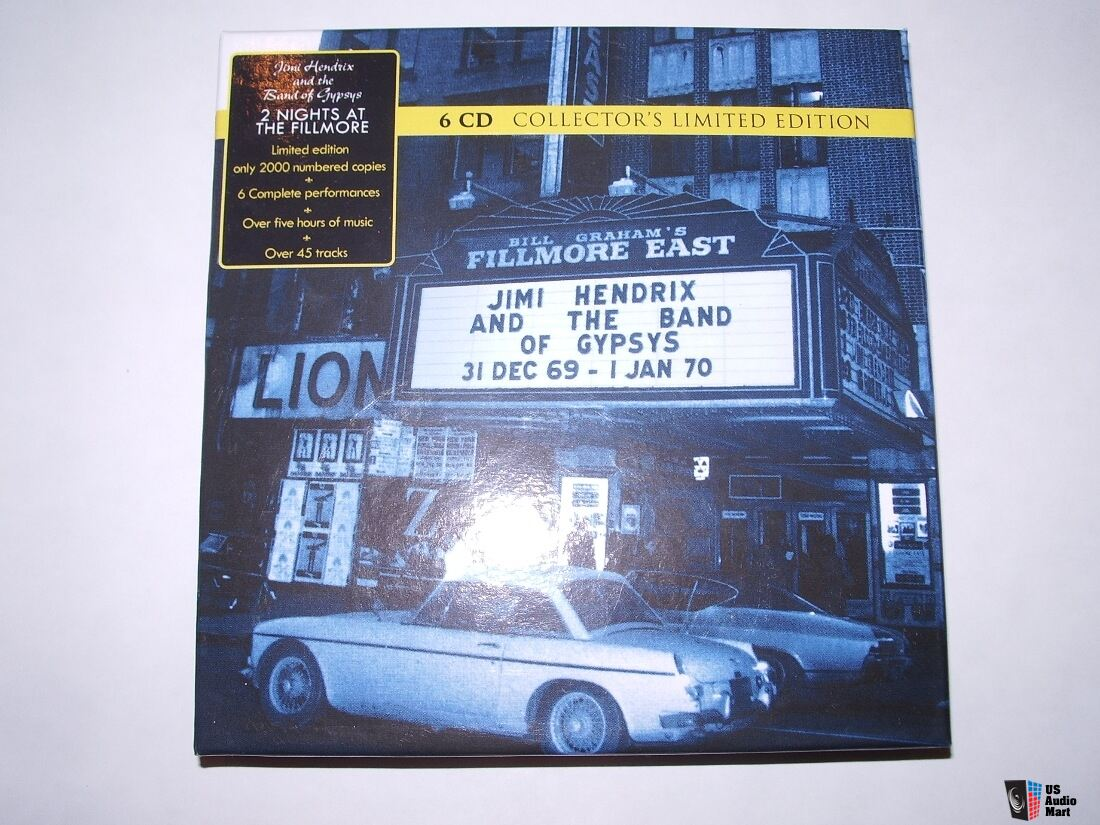Jimi Hendrix - 2 Nights at the Fillmore East 6 CD BOX SET