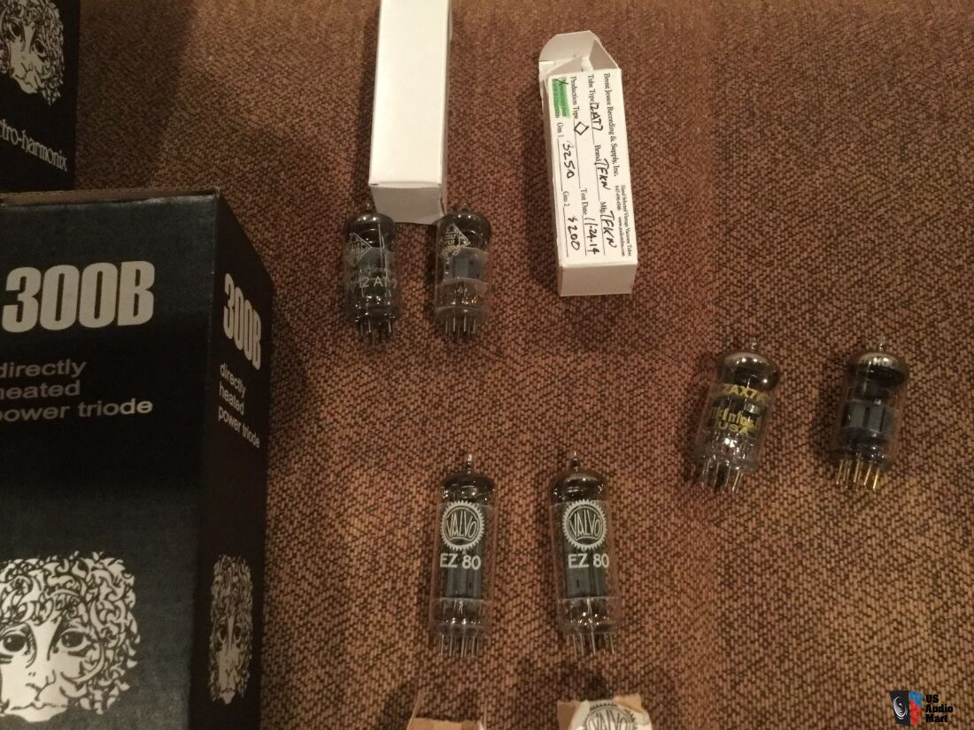 EH 300b  Telefunken,Mullard,Valvo ,Amperex,and RCA Tubes some from Brent Jesse
