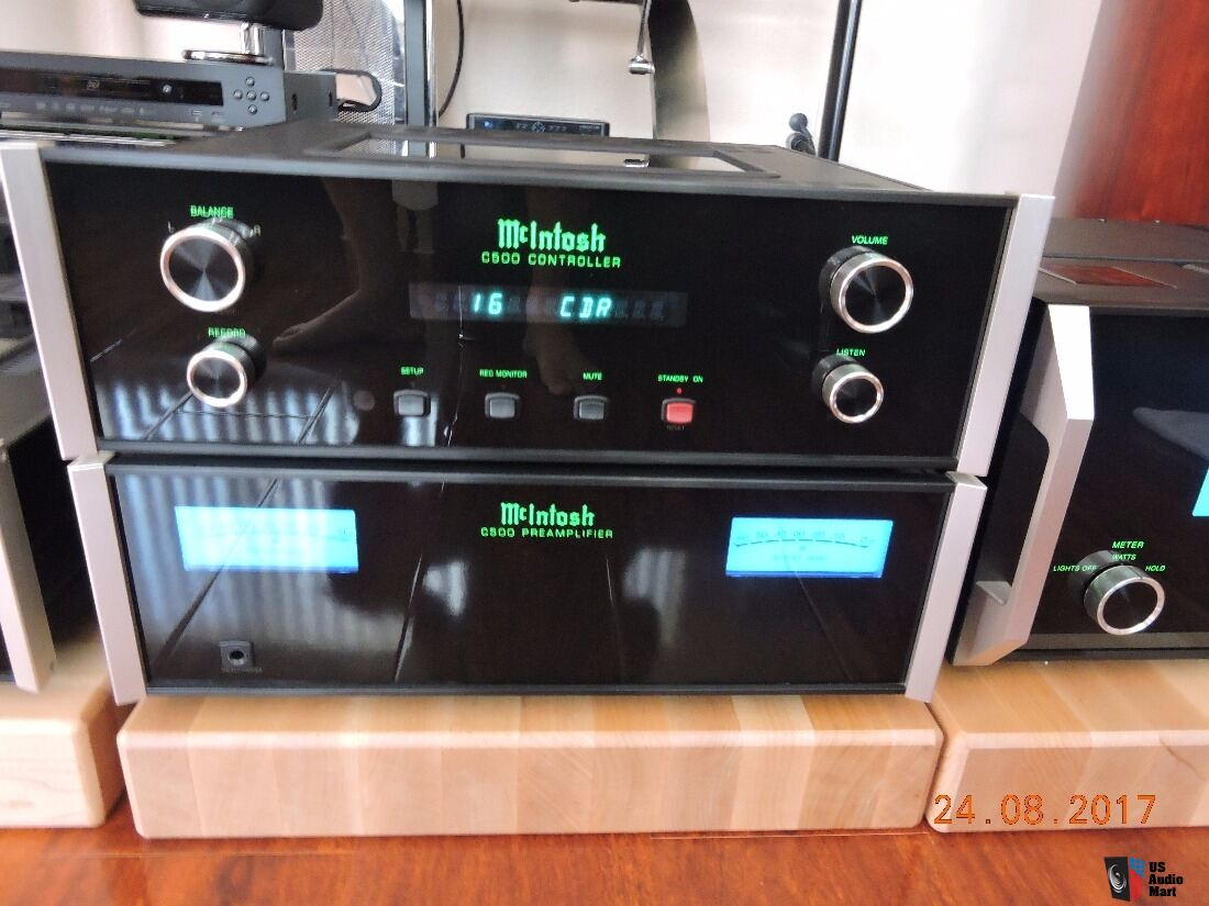 Mcintosh C500p C500c Combo 2 Pieces Solid State Preamp And Power Controller 13000