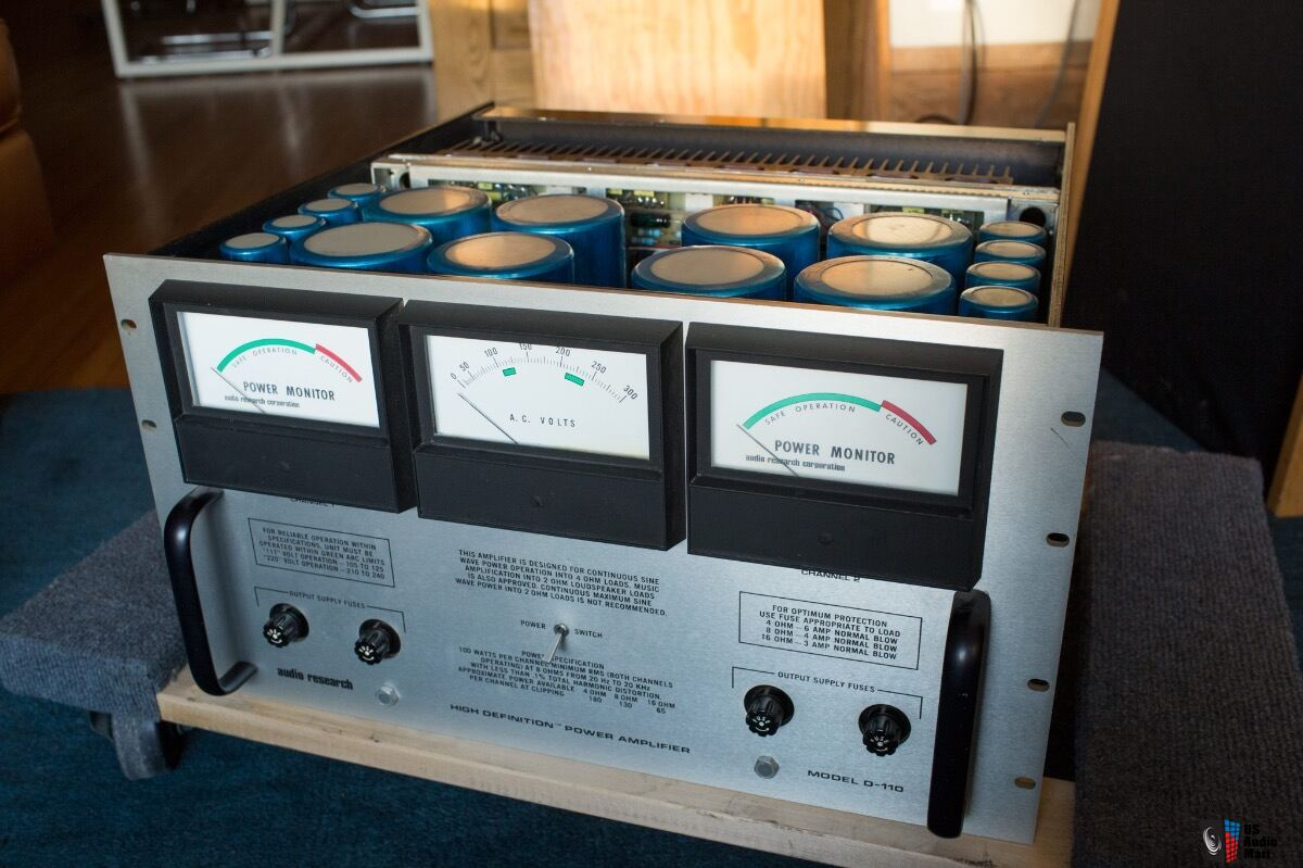 1979 ARC Audio Research Corporation D110B vintage solid state audiophile power amplifier