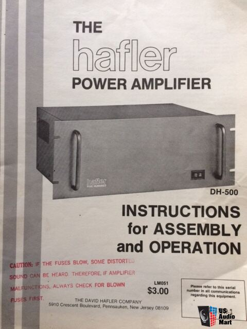 Hafler DH-500 Power Amplifier