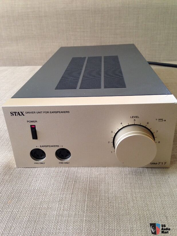 Stax SRM 717 amplifier for electrostatic headphones earspeakers