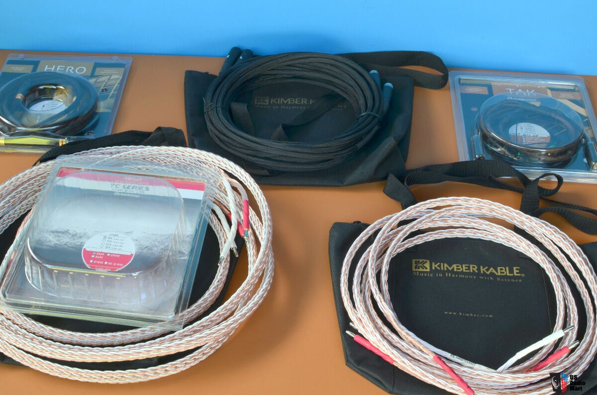 Kimber Kable 12-TC Speaker cable 8 Feet Pair Photo ...