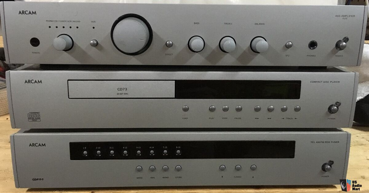 Arcam A65 Amplifier, CD73 CD Player, & T61 AM/FM RDS Tuner