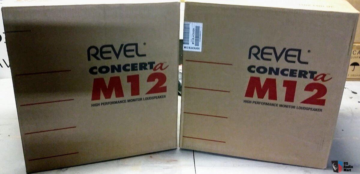 Revel Concerta M12 Bookshelf Speakers Black Ash Finish