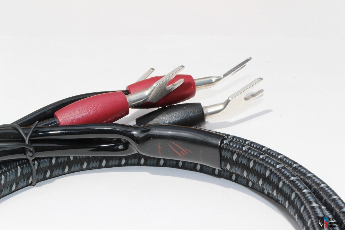AudioQuest Rocket 44 speaker cables, 6 ft Bi-Wired, silver Spades ...