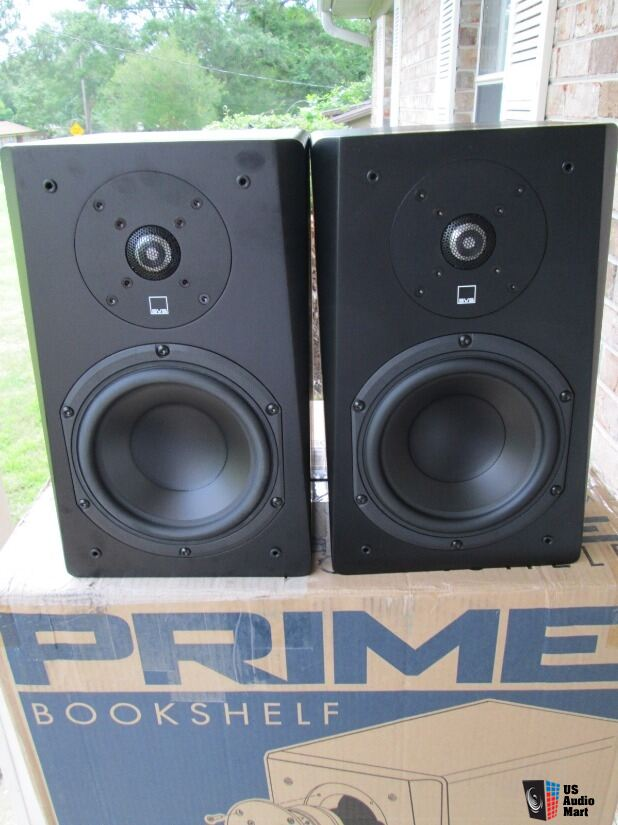 SVS Prime Bookshelf Speakers In Box With Nearly 3 1 2 Year Of Warranty Left