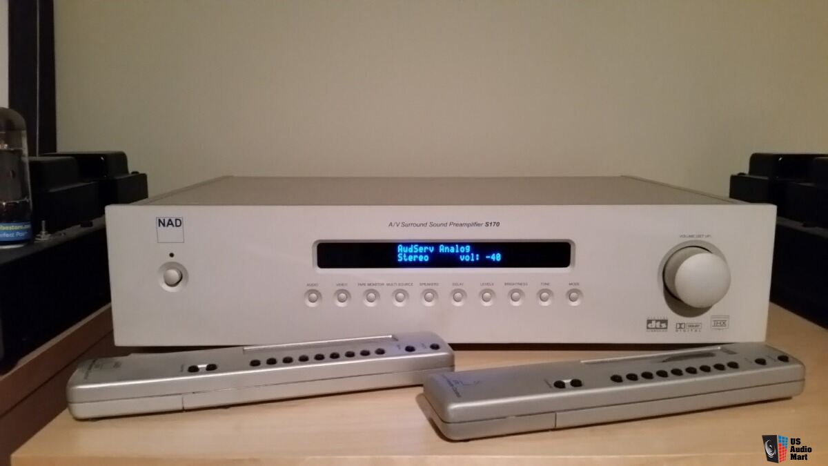 NAD S170 Silverline preamp d/a converter - with remote