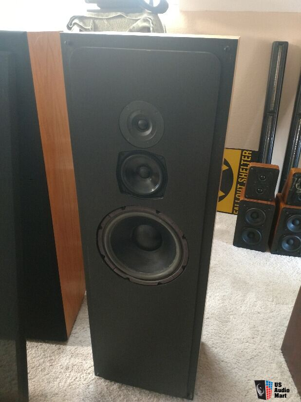 Snell Type C ll Speakers Three Way with Rear Firing Tweeter (can be switched off)
