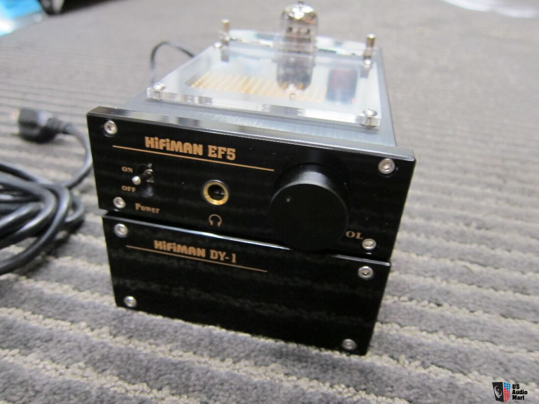 Hifiman EF5 Tube Headphone Amp,Box,Manual,USA Vintage 12au7