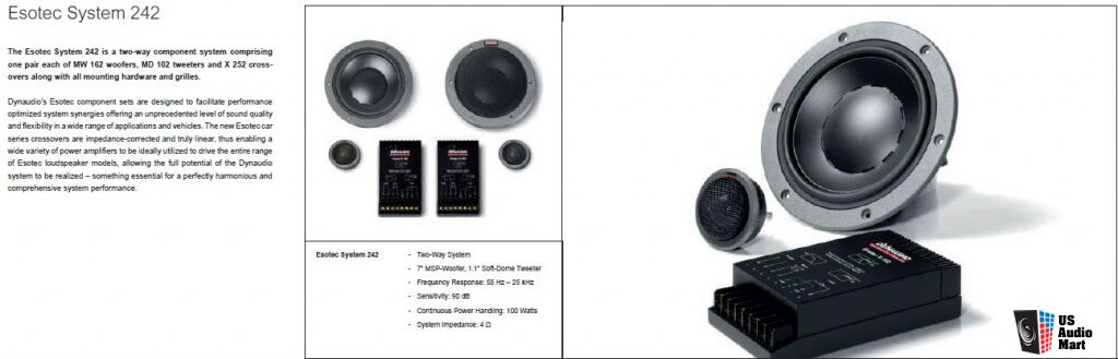 PRICE REDUCED:  Dynaudio System 242