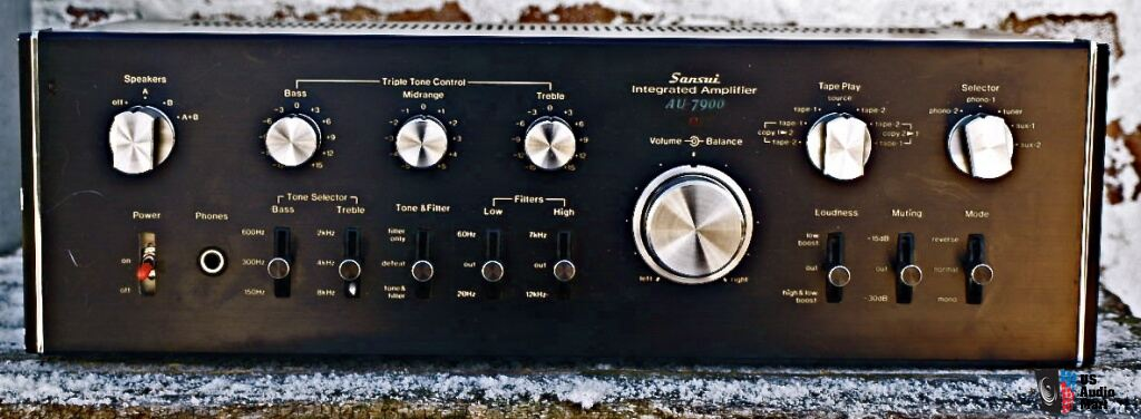 Sansui integrated amplifier AU-7900 vintage classic just re-capped and rebuilt amp w/ 2 phono inputs