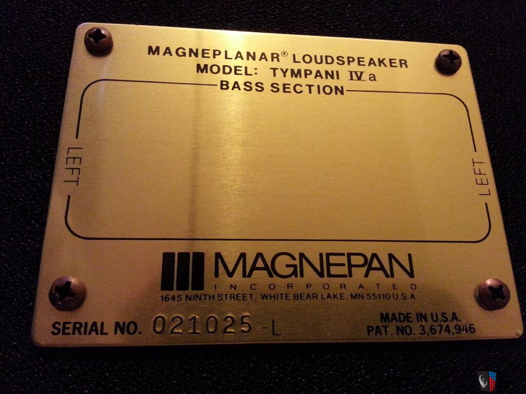 Magnepan Tympani IV-a   Price Reduced!