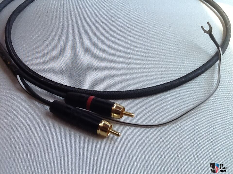 Ultimate Cables Silver C4 Phono Cable Din To Rca 1m With