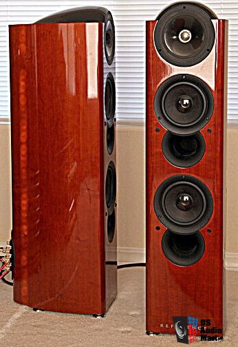 Kef Reference 203 2 Gloss Cherry Finish Mint With Obm Huge