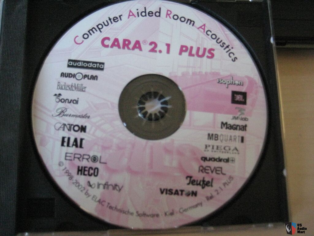 Cara Computer Aided Room Acoustic software  Rel 2.1 plus