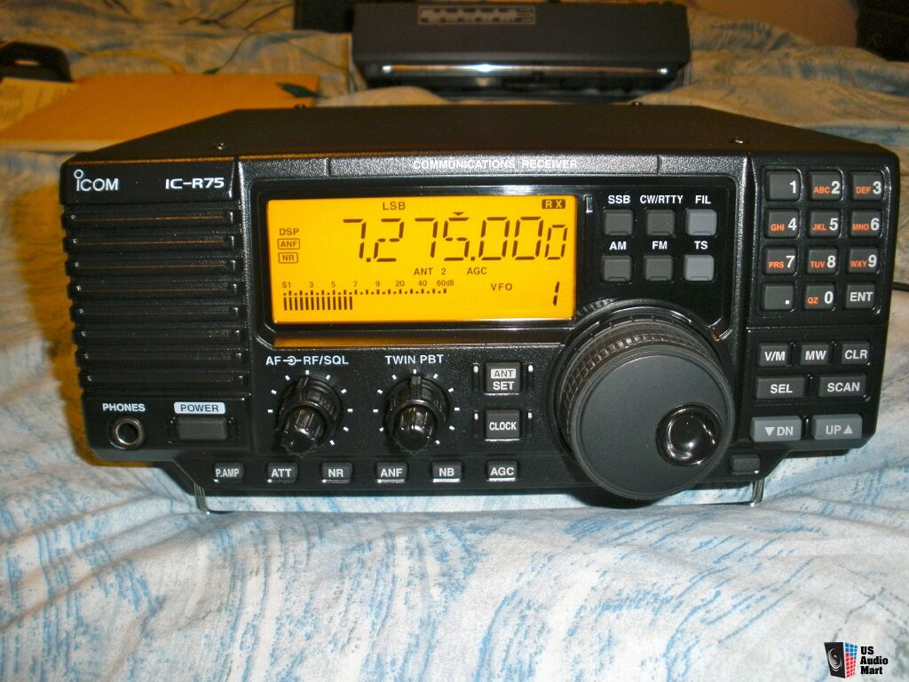 Icom IC-R75 with Synch , DSP UT-106, FL-222, FL-223 Filters Photo