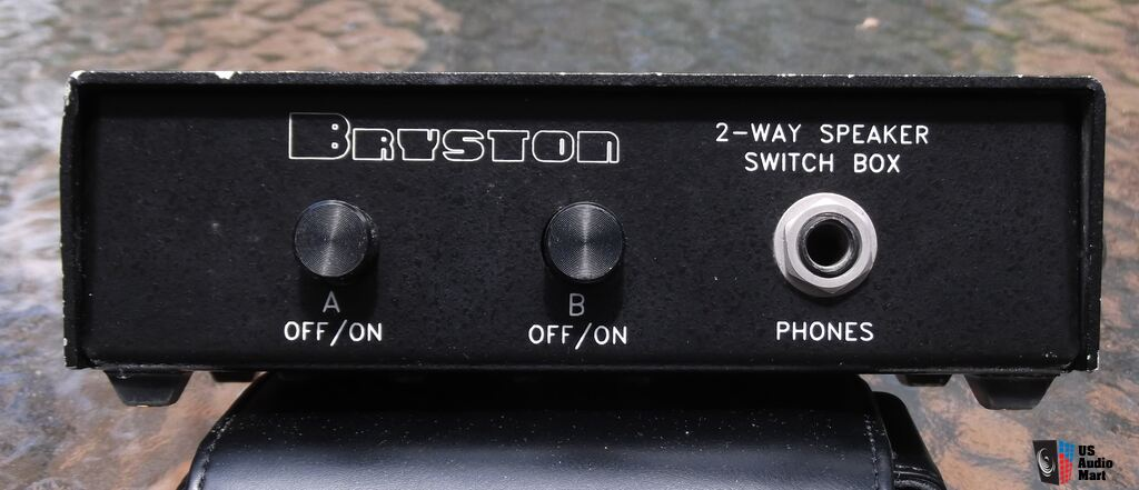 Bryston 2 way speaker switch box, with headphone input photo on two way on off switch Two Hand Switch Turn Off Switch
