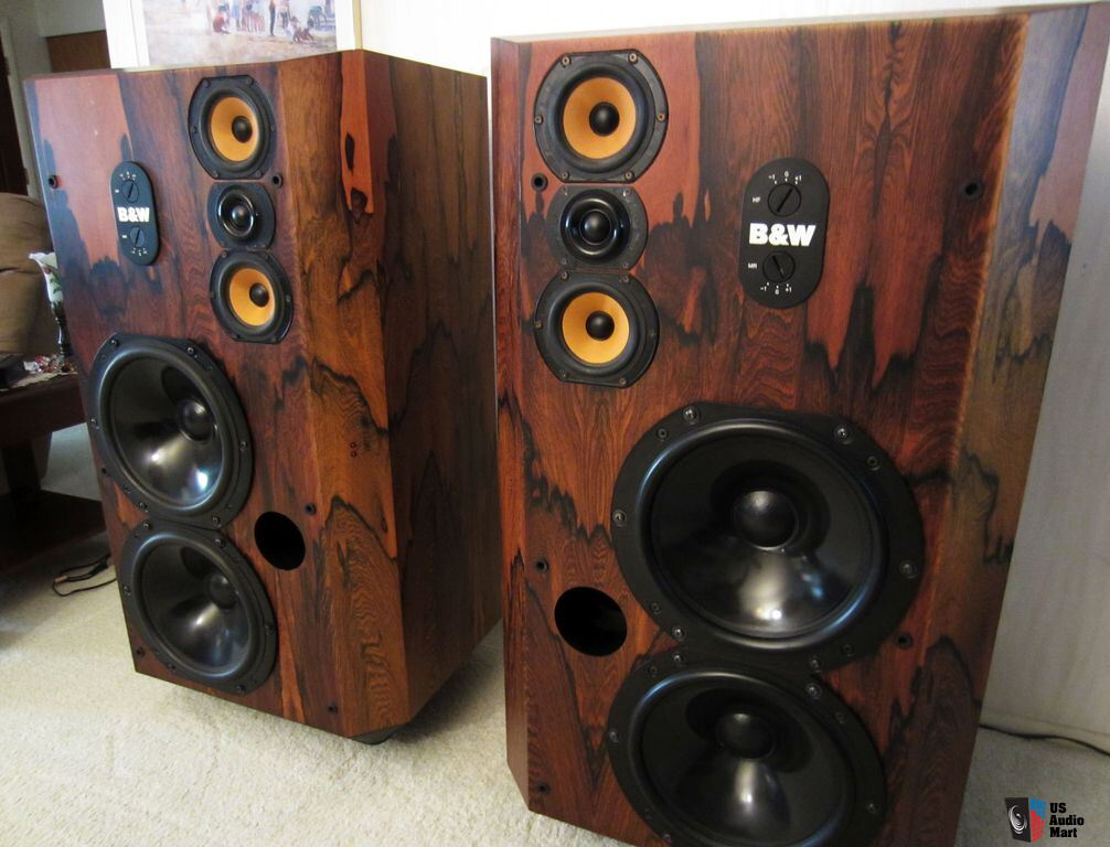 EXTREMELY RARE B&W 808 Series 80 Speakers Vintage Bowers and Wilkins ROSEWOOD