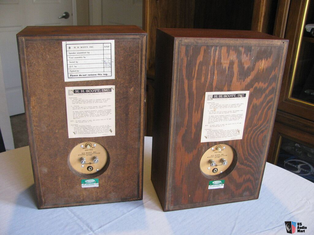 USA. VINTAGE (50,s-80,s) 865285-rare-excellent-condition-hh-scott-s9-bookshelf-speakers-small-tubeamplifier