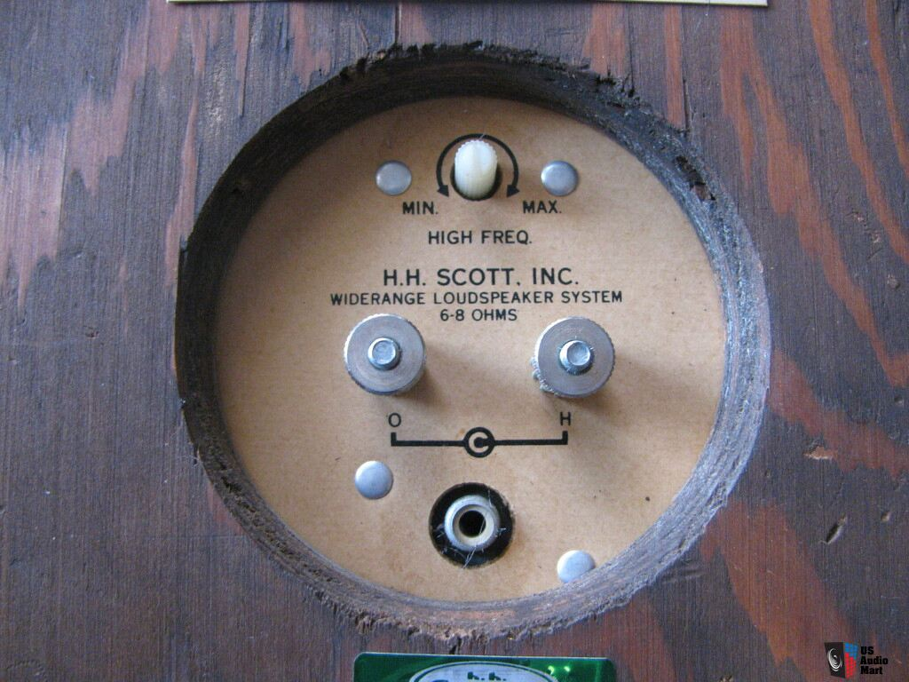 USA. VINTAGE (50,s-80,s) 865286-rare-excellent-condition-hh-scott-s9-bookshelf-speakers-small-tubeamplifier